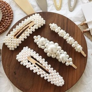 Set of 4 Imitation Pearl Hair Clips
